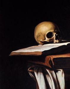 Caravaggio. St.Jerome, detail.