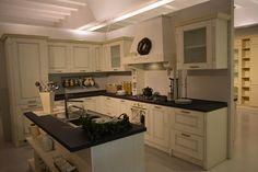 Klasszikus festett tömörfa konyhabútor Kitchen Cabinets, Home Decor, Decoration Home, Room Decor, Cabinets, Home Interior Design, Dressers, Home Decoration, Kitchen Cupboards
