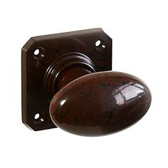 BROLITE 6814 Real Bakelite Door Knobs Walnut: All our BROLITE real Bakelite pieces are based on original designs from early to century and un Knobs And Handles, Door Handles, Brown Doors, Back Plate, Wood Screws, Door Knobs, Chevron, Hardware