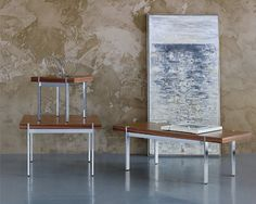 Arcadia Radiant tables and benches. Choose finishes wisely