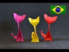 Origami: Gato (Kitty Cat ) - Tutorial com voz PT BR