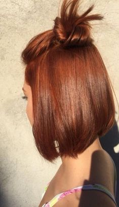 Burgundy Brown - 40 Red Hair Color Ideas – Bright and Light Red, Amber Waves, Ginger Hair Color - The Trending Hairstyle Hair Color Auburn, Red Hair Color, Color Red, Short Auburn Hair, Short Red Hair, Auburn Bob, Red Bob Hair, Red Hair Bobs, Red Colored Hair
