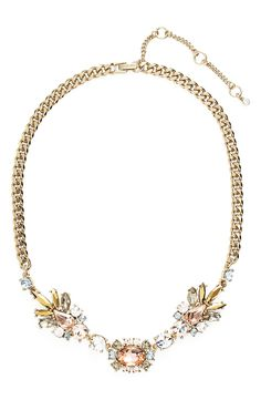 This gold and rose crystal necklace will be perfect for spring.