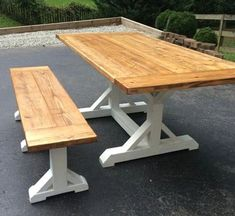 Farmhouse Tables - Into The Woods - Custom Farmhouse Tables | Into The Woods - Custom Farmhouse Tables Farmhouse Table For Sale, Woods, Dining Table, Picnic Tables, Furniture, Topcoat, Home Decor, College, Garden