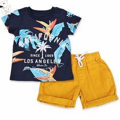7b203bf4 Summer Boys T shirt Short Pant Kids Suits, Children Suit, Children Clothing,  Boy
