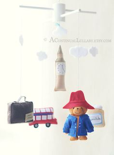 Paddington+Bear++Story+Mobile+by+A+Continual+by+AContinualLullaby,+$110.00