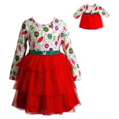 Girls+4-14+Dollie+&+Me+Ornament+Dress+Set