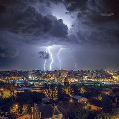 """Rostov-on-Don"" by Artem Oleshko, via Tornados, Rostow Am Don, Lightning Cloud, Fuerza Natural, Kodak Moment, Night City, Natural Phenomena, Amazing Nature, Wonders Of The World"