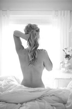 Boudoir shoot, if you could see the ring on her finger
