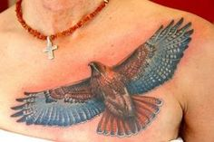 red tailed hawk tattoos for women   in august of 1992 the newly remodeled painless steel tattooing and ... by josephine
