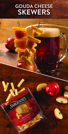 Spring is in the air and that means backyards, barbeques and seasonal beer pairings. Instead of a typical grilled item, try these simple spring skewers by threading our Smokehouse Gouda Snack Bites cheese snacks with apples. Serve with a spring brew and you have the perfect meal. Get the complete recipe at Sargento.com.