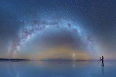 The Milky Way Reflected Onto the Largest Salt Flat in the World by DanielKordan_03 | thisiscolossal #Photography