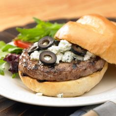 Black and Bleu Burger    MyRecipes.com