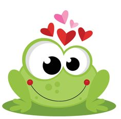 Frog in Love SVG scrapbook cut file cute clipart files for silhouette cricut pazzles free svgs free svg cuts cute cut files Funny Frogs, Cute Frogs, Cute Images, Cute Pictures, Frog Art, Cute Clipart, Rock Crafts, Cute Illustration, Silhouette Design