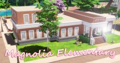 Sims 4 CC's - The Best: Magnolia Elementary school NO CC by darlingfluff