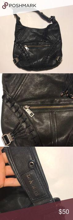 L.A.M.B leather bag Buttery soft, rocker style. Adjustable shoulder strap, good condition. 13x13 L.A.M.B. Bags Shoulder Bags