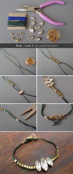 Thanks, I Made It : Holiday DIY Crystal Bracelets
