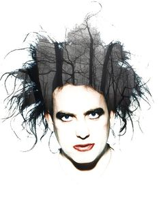Double Exposure...   a forest...  with Robert Smith.