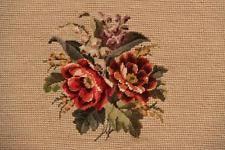 Gobelin Stickerei Blumen Petit Point Handarbeit Decke Kissen Handarbeit