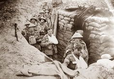 In the British trenches.