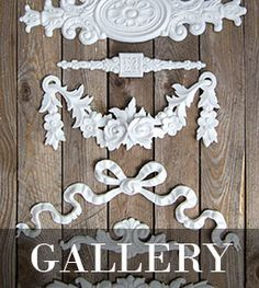 ornamental moulded swags & bows Ornamental Mouldings, Swag, Bling, Bows, Rustic, Ornaments, Creative, Handmade, Inspiration