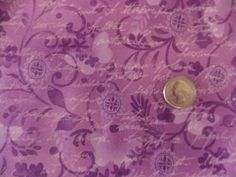 Paintbrush GardensLavender Floral Quilt Fabric OOP By Yard Sewing Crafts #Clothworks