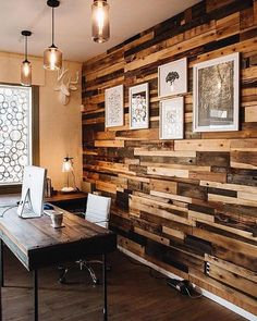 Rustic Workspace Kathy Ann Abell Interiors San Diego