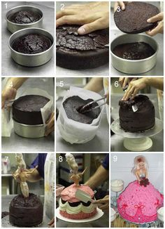 » Barbie Cake || RECIPE Jayna's birthday cake idea Maybe with a monster high doll..