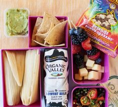 We found these great plain cheese tamales at our local grocery store and paired them with tortilla chips, guac, Organic Valley Milk, fruit skewers and Organic Valley cheese, tomato salad, and Annie's Friends Bunny Grahams. Yum! Kids Food Crafts, Organic Snacks, Healthy Kids, Healthy Snacks, Eating Healthy, Healthy Living, Baby Food Recipes, Snack Recipes, Budget Meals