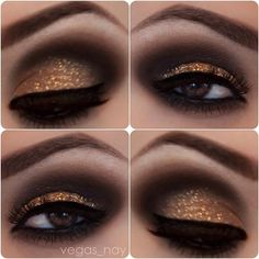 See more Golden eye lids style for ladies