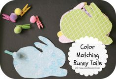 Fine Motor Color Matching Bunny Tails from School Time Snippets.