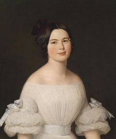 Portrait of a lady by Anton Einsle, 1830s