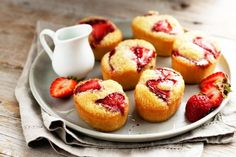 Dairy-free strawberry and lime friands