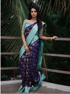 Wedding Saree Blouse Designs, Pattu Saree Blouse Designs, Half Saree Designs, Fancy Blouse Designs, Pattu Sarees Wedding, Bridal Sarees, Designer Silk Sarees, Art Silk Sarees, Latest Silk Sarees