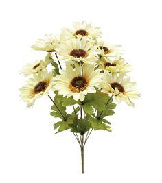 Blooming Autumn 17'' Sunflower Bush-Beige