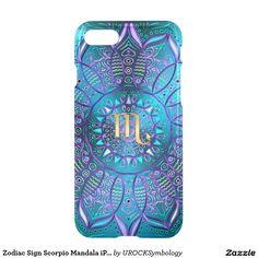 #Zodiac Sign #Scorpio Mandala #iPhone 7 Case  #zazzle