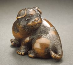 Dog netsuke. Naitō Toyomasa (Japan, 1773-1856). Japan, first half of 19th century