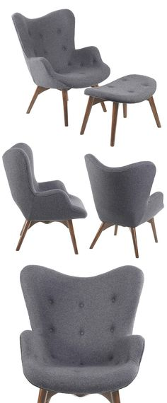 Sit around, stylishly, with the Paddington Deux Lounge Set. Form and comfort meet in the mid-century modern design and luxurious styling. Upholstered in a cashmere blend and supported by solid wood leg...  Find the Paddington Deux Lounge Set, as seen in the The Ivies Collection at http://dotandbo.com/collections/the-ivies?utm_source=pinterest&utm_medium=organic&db_sku=91954