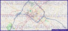 Подробная карта города Шарлотт