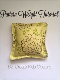 How to make your own Pattern Weights