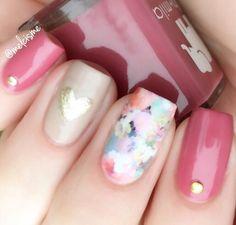 "1,412 Me gusta, 19 comentarios - Melissa ♡ (@melcisme) en Instagram: ""floral feels . @ellamilapolish berry much in love, pour the bubbly & gilded  @bornprettystore…"""