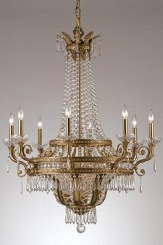 Paris Flea Twelve-Light Crystal Chandelier #homedecorators