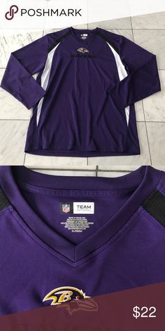 NFL Baltimore Raven Team Shirt NFL Baltimore Raven Team Shirt.  Size XL. Excellent preowned condition with no stains, holes or signs of wear. All items come from a smoke free environment. Please feel free to make a reasonable offer. Thank you for shopping in my closet! 😊 nfl Shirts