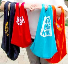How To Make a Recycled T-Shirt Tote Bag....Here's an awesome way to reuse some of those great souvenir T-Shirts that you just can't seem to part with.....you know I'm talking to YOU!  If you could, they wouldn't still be hanging around, would they?   Jill
