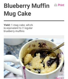 Super Yummy Blueberry Muffin Mug Cake With Tips and Tricks! ❤ #Food #Drink #Trusper #Tip