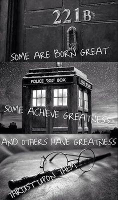 Sherlock, Doctor Who, Harry Potter