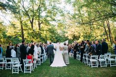 Outdoor wedding at the Redfield Estae
