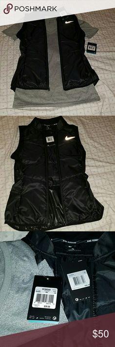 NWT Nike vest and NWT Nike Tshirt Both size Extra Small. Black Nike running vest and grey v-neck Nike Dri-Fit tshirt. Nike Tops Tees - Short Sleeve