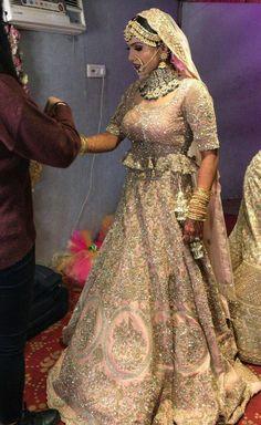 Some Never Seen Before Lehenga Colour Punjabi Bride, Pakistani Bridal, Bridal Outfits, Bridal Dresses, Indian Dresses, Indian Outfits, Indiana, Bridal Lehenga Collection, Wedding Dress