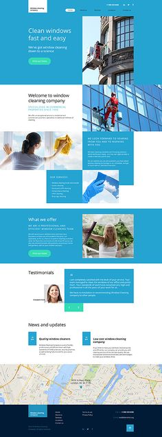 Template 58169 - Window Cleaning  Responsive Website Template